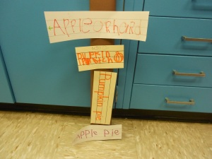 Another writing opportunity: creating signs.