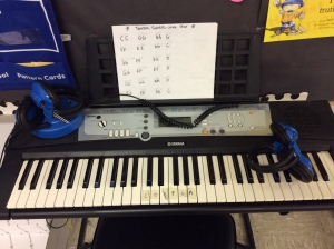 Keyboard is a class favorite. I took my headphones from the old listening station and now use them at the keyboard so partners can play without lots of noise.